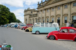 The air-cooled winners line up